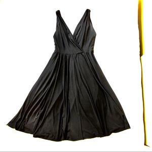 Ralph Lauren midi-length dress in black